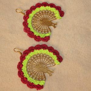 Exclusive crochet earring